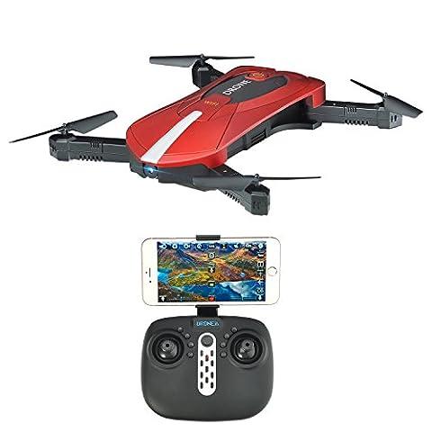 Yunshangauto® Faltbar RC Mini-Drohne mit HD-Kamera 2MP und einstellbare Geschwindigkeit Racing RTF Quadcopter Flight-Track Einstellung Höhe Hold Headless Modus-2.4 g 6 Achse (Einstellbare Einstellung)
