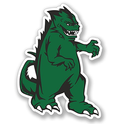 Preisvergleich Produktbild 2 x 15cm / 150mm Godzilla Monster Vinyl SELBSTKLEBENDE STICKER Aufkleber Laptop reisen Gepäckwagen iPad Zeichen Spaß 4114