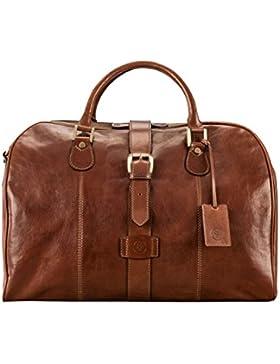 Maxwell-Scott® Luxus Ledertasche in Handgepäckgröße (Farini)