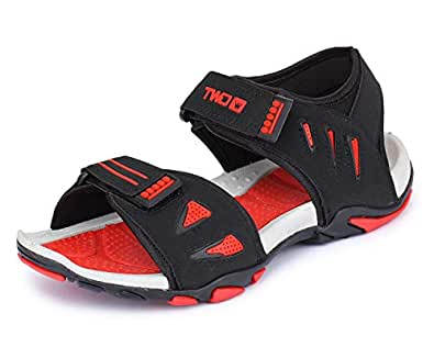 TOUCHWOOD Kids/Boys Zoom Black/Red Sandals & Floaters