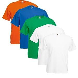 Fruit of the Loom Herren 5er Pack T-Shirt Valueweight T 5er_61-036-0
