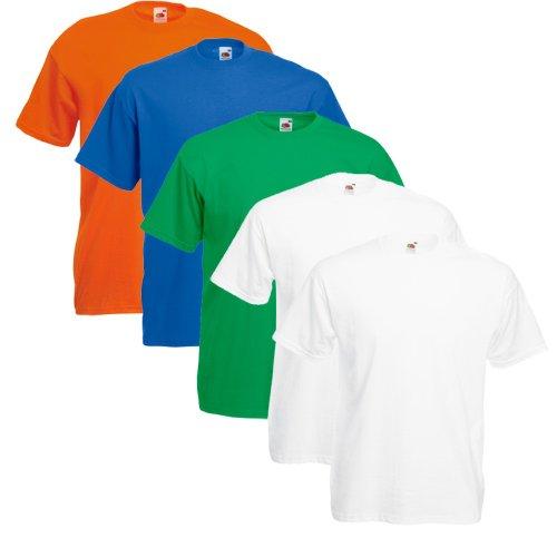 Fruit Of The Loom Original T 5-Pack Logo Men's T-Shirt Farbset Vii
