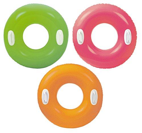 Intex Hi-Gloss Tube - Aufblasbarer Schwimmring - Ø 76 cm - Mit Griff
