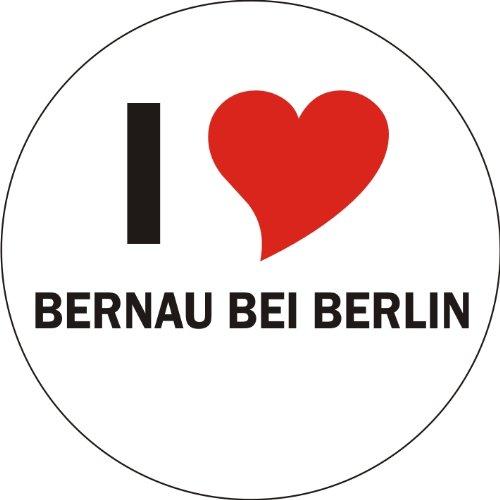 I Love BERNAU BEI BERLIN Laptopaufkleber Laptopskin 210x210 mm rund
