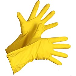 SWASTIK Reusable Rubber Hand Gloves for Washing, Cleaning, Kitchen, Garden & Sanitation (Pack of 1)