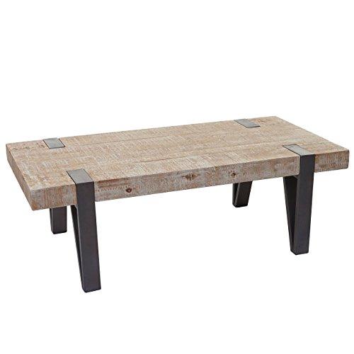 Couchtisch HWC A15b, Wohnzimmertisch, Tanne Holz Rustikal Massiv 40x120x60cm