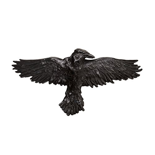 Alchemy Gothic Black Raven Hair Slide Clip Pewter Black