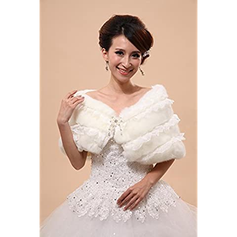 Vestidos de novia / Chalecos de piel / Capuchas y Ponchos Capa sin mangas de piel sintética Blanco de la boda / Fiesta / Noche Off-the-hombro / laminado collar