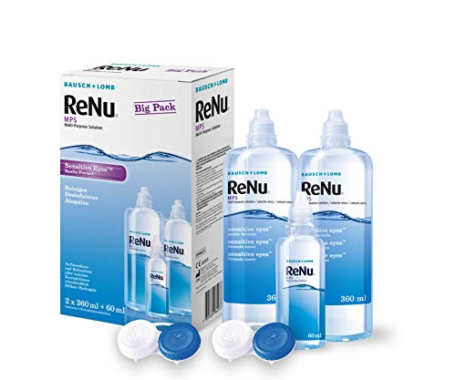 ReNu MPS Pflegemittel - Kontaktlinsenlösung ReNu - Bausch & Lomb Sensitive Eyes - ReNu Kombilösung als Bigbox 2 x 360 ml + 60ml
