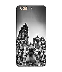 PrintVisa Designer Back Case Cover for Gionee Elife S7 (holy church home of god grey white)