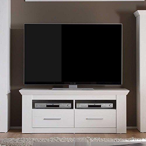 fernsehmoebel holz Pharao24 Fernsehmöbel in Weiß skandinavisch
