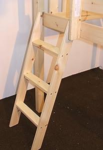 Pine Bunkbed cabin bed mid sleeper Ladder - Bunk Bed Slanted Ladder Solid Pine