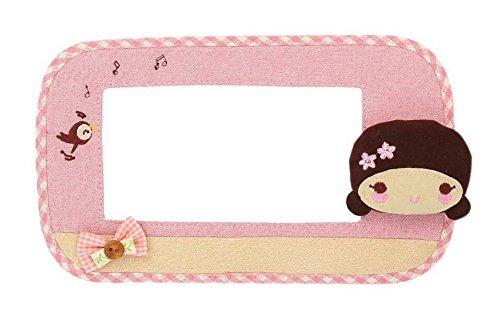 Preisvergleich Produktbild Karikatur-Leinen-Doppel-Schalter-Aufkleber-Tuch-Schalter-Einfaßungs-Wand-Aufkleber Kleines Mädchen