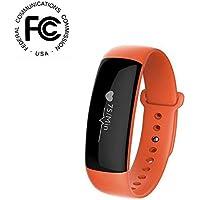 BreLINE Pulsera Actividad Bluetooth Podómetro Inteligente,Sueño, Notificación de SMS,Control Cámara Pulsera Inteligente Contador de Pasos/Despertador Vibración con el teléfono Intelligent Android