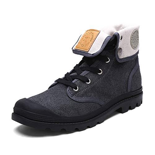 Exing Womens Schuhe High-Top-Sneaker/Liebhaber Leinwand Schuhe/Anti-Rutsch Vintage Martin...