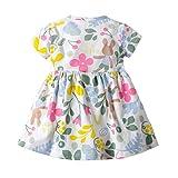 JUTOO Neue Kleinkind Kind Baby Mädchen Kurzarm Blumenkleid Princess Romper Dresses Kleidung (Grün,6M)