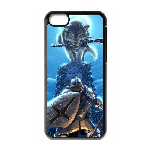 Dark Souls coque iPhone 5C Housse téléphone Noir de couverture de cas coque EBDXJKNBO15644