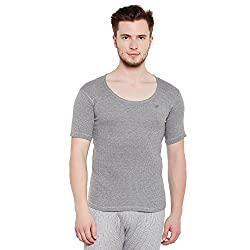 Neva Men Solid Thermal Top Milange Grey Coloured XXX-Large