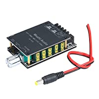Anself HIFI Level with Audio Filter Digital Power Amplifier Board Module 100Wx2 AUX and BT5.0 Audio Input 2-in-1 Stereo Audio AMP with Volume Control Knob and Switch