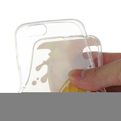 iPhone 6 Plus Silicone Case,iPhone 6S Plus Coque - Felfy Coque Souple Transparente Gel TPU Soft Silicone Case Motif Design Premium Ultra-Light Ultra-Mince Skin de Protection Anti-Choc Bumper Housse Ca Les tranches de Citron