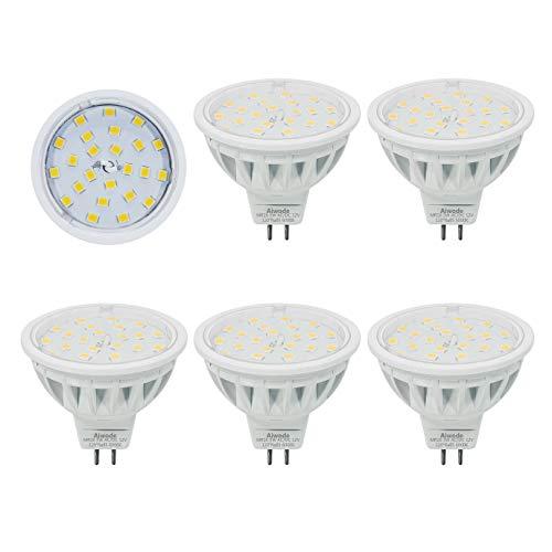 MR16 LED Lampe Ersetzt 50W Kaltes Weiß 6000K 600LM RA85 120°Abstrahlwinkel Gu5.3 Scheinwerfer,AC/DC12V 5er Pack. -