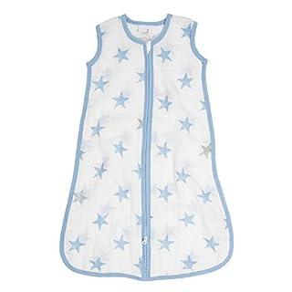 aden by aden + anais sleeping bag, 100% cotton muslin, dapper - stars, 6-12 months