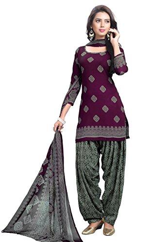 Raghavjee Sarees women's printed unstitched Patiala crepe dress material salwar kameez kurta punjabi suit