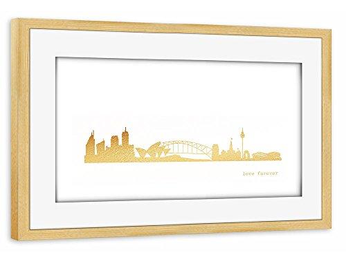 artboxone-poster-mit-rahmen-30x20-cm-stdte-stdte-sydney-reise-architektur-sydney-gold-print-love-gol