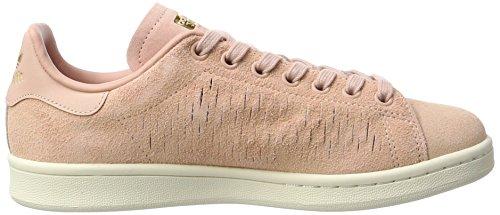 adidas Damen Stan Smith Sneaker Pink (Haze Coral/Haze Coral/Chalk White)