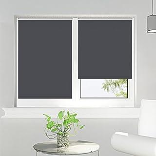 Store occultant - Sunfree store enrouleur Klemmfix Rideau avec un coté isolant thermique 80x160 - Gris foncé
