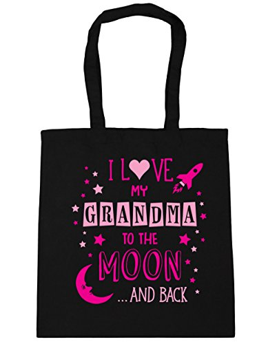 hippowarehouse-i-love-my-grandma-to-the-moon-and-back-pink-tote-shopping-gym-beach-bag-42cm-x38cm-10