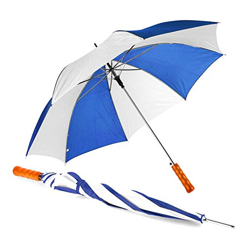 Automatik-Regenschirm / Farbe: weiss-blau