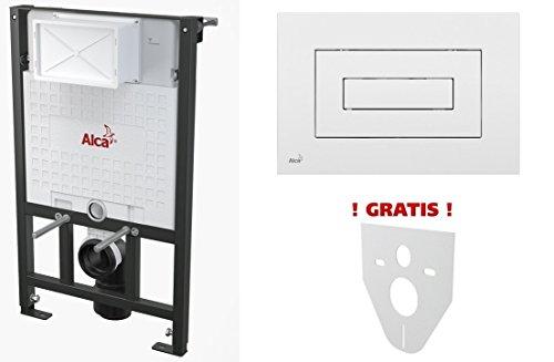 WC Vorwandelement für Trockenbau 120 cm inklusive Betätigungsplatte Weiss Typ Cube Unterputzspülkasten Spülkasten Wand WC hängend Schallschutz