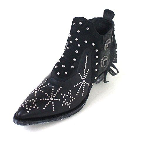 Mexicana , Bottes et bottines cowboy femme Black (black silky cowhide)