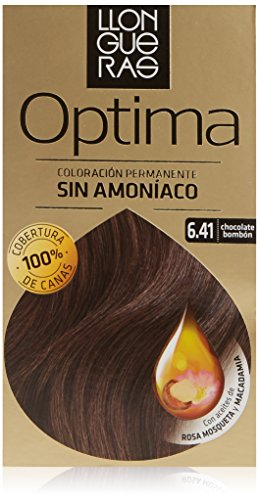 Llongueras Tintura per Capelli, Optima Hair Colour, 200 gr, 6.41-Bombón Chocolate