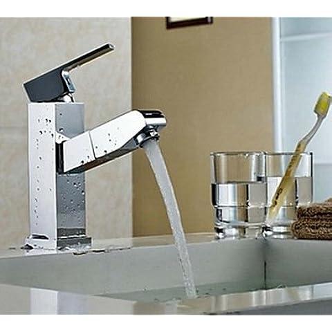 Luxury Classic Square singola maniglia rame rubinetto Miscelatore lavabo rubinetto