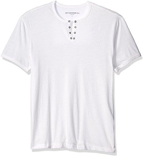 John Varvatos Star USA Men's Eyelet Henley Shirt