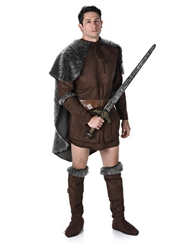 Wikinger Mittelalter Kostüm Krieger braun-grau L