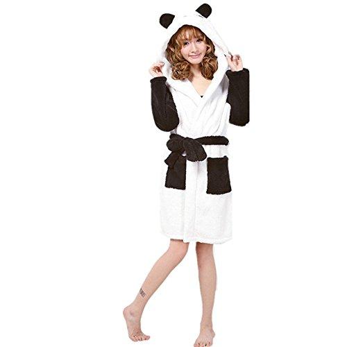 ntel/Morgenmantel mit Kapuze Robe Nachtwäsche Tier Kostüme Pyjama Cosplay (Small for 145cm-156cm, Panda) ()