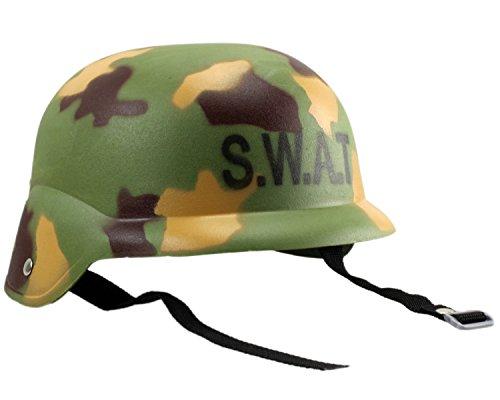 Kinder-Einsatzhelm Soldat SWAT Army Softair Helm Camouflage Tarn-Optik top (Army Kostüm Swat)