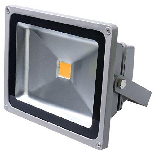 Auralum®50W Kaltweiß LED Außenstrahler  IP65 4500LM 230V 6000~6500K  Scheinwerfer Baustrahler Fluter Flutlicht Gartenstrahler   Grau