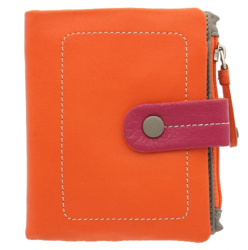 Visconti Collezione Mimi MOJITO Borsetta Compatta Multicolore in Pelle M77 Rosso Multi Arancione Multi