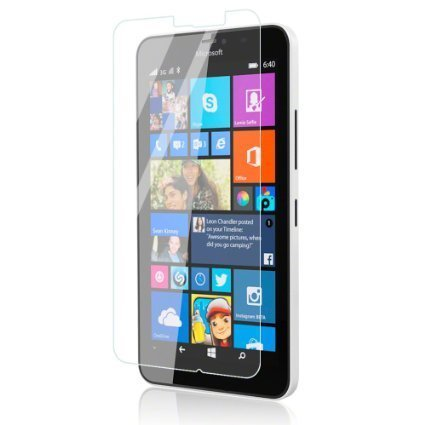 Plus Anti Explosion Premium Tempered Glass , 9H Hardness, 2.5D Curved Edge, Ultra Clear, Anti-Scratch, Bubble Free, Anti-Fingerprints & Oil Stains Coating for Microsoft Lumia 640 XL