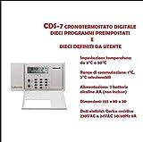 Cronotermostato Programmabile CDS-7 20 Programmi Facile da Usare