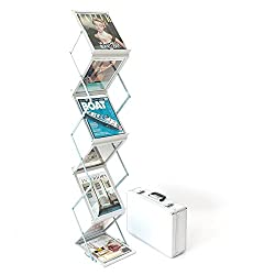 A4 Folding Brochure Display Stand With Travel Case Exhibition, Trade Show, Literature