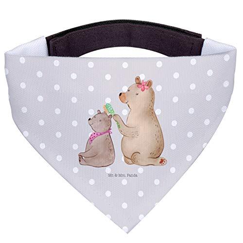 Mr. & Mrs. Panda Hunde, Tuch, Hundehalstuch M Bär mit Kind - Farbe Grau Pastell