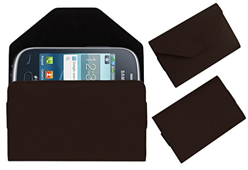 Acm Premium Pouch Case For Samsung Rex 70 S3802 Flip Flap Cover Holder Brown  available at amazon for Rs.389