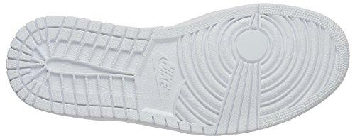 Nike Herren Air Jordan 1 Low Top Weiß (120 WHITE/WHITE-METALLIC SILVER)