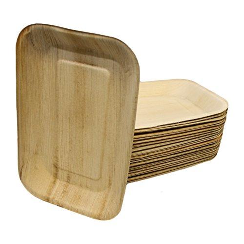 EMMA´s Palmblatt Teller, 16x24 cm, kompostierbar, 100 Stück