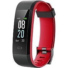 Willful Pulsera Actividad, Pulsera Actividad Inteligente Pantalla Color Reloj con Pulsómetro Impermeable IP68 Podómetro Pulsera
